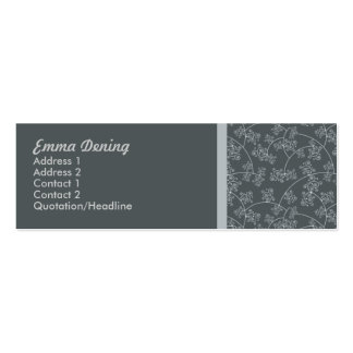 Skärm utskrivaven elegant set av smala visitkort