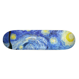 Skateboard för Impressionism Van Gogh för Starry