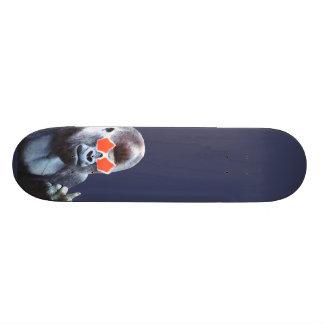 Skateboard för konst för gorillamiddlefingergata