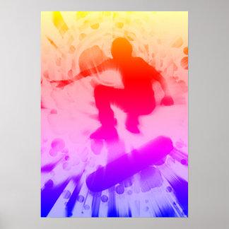 skateboarden tänder explosion poster