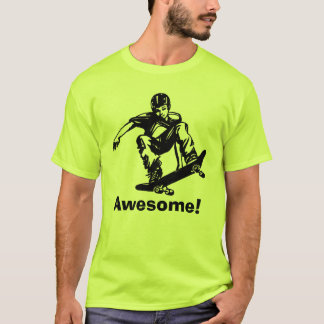 Skateboarder för skaterpojkefantastisk tee shirt