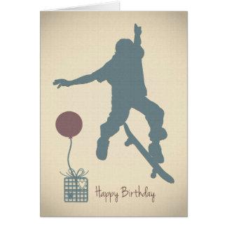 Skateboarding födelsedagkort för pojke hälsningskort