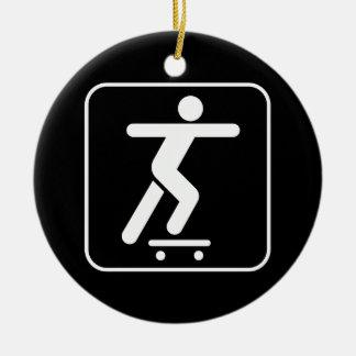 Skateboarding symbolprydnad julgransprydnad keramik