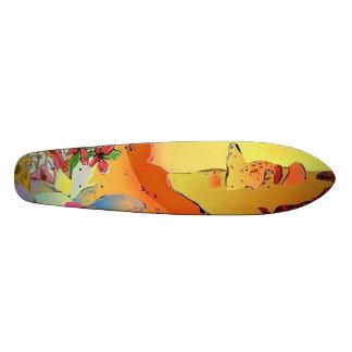 Skateboardöknen överbryggar design old school skateboard bräda 18 cm
