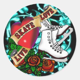 SkaterGirl tatueringklistermärke Runt Klistermärke