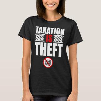 SKATT ÄR STÖLDkvinna T-tröja T-shirts
