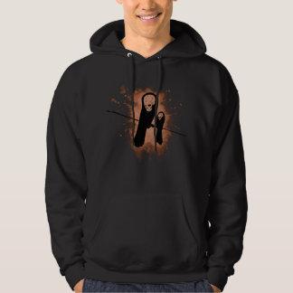 Skelecrow bedrövade trycket hoodie