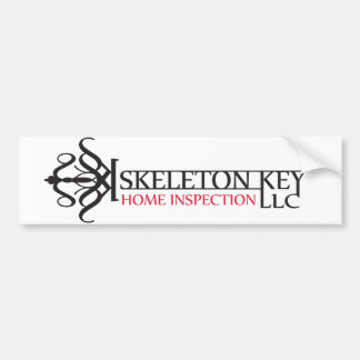 Skeleton Key Bumper Sticker Bildekal