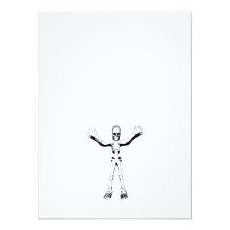 Skelett 14 X 19,5 Cm Inbjudningskort