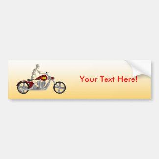 Skelett- biker-/cykelryttare: Bildekal