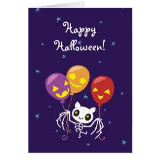 Skelett- flyg för Halloween fladdermöss med Hälsningskort