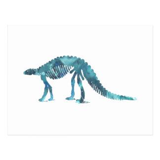 Skelett för Dinosaur (Scelidosaurus) Vykort