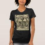 Skelett Goth som är medeltida Tee Shirts