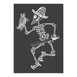 Skelett- karta för pirat 12,7 x 17,8 cm inbjudningskort