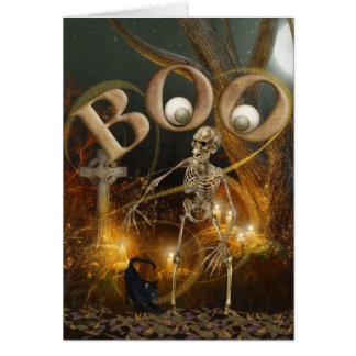 Skelett- och allvarliga Halloween Hälsningskort
