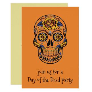 Skelett- partyinbjudningar för day of the dead 8,9 x 12,7 cm inbjudningskort