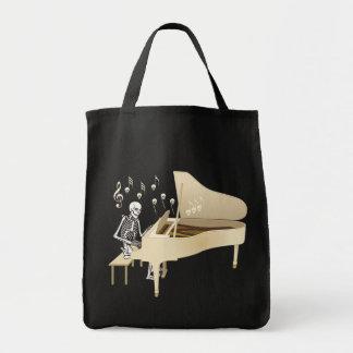 Skelett- pianist tygkasse