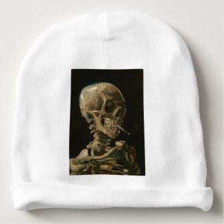 Skelett- skalle med den brinna cigaretten av Van