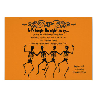 Skelett som dansar inbjudan