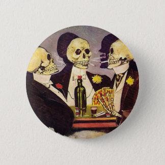 Skelett- spelare standard knapp rund 5.7 cm