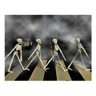 Skelett- väg vykort