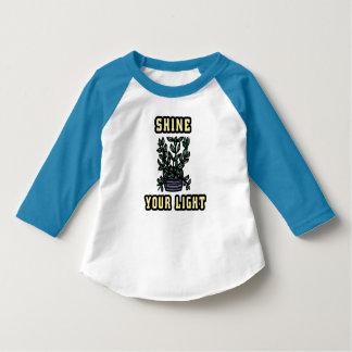"""""""Sken din ljusa"""" sleeveRaglan T-Shi för småbarn Tee Shirt"""