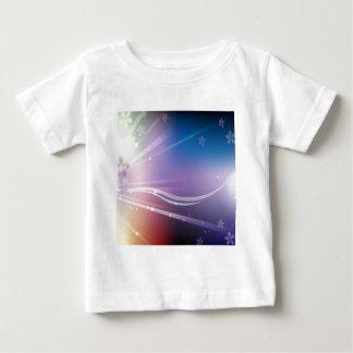 Sken för abstraktblommablått t-shirts