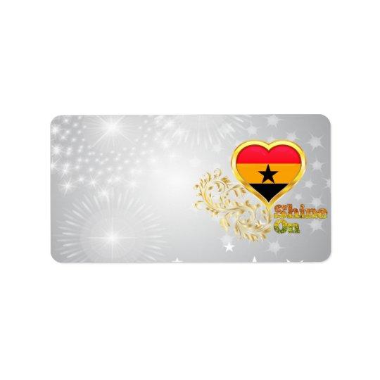 Sken på Ghana Adressetikett
