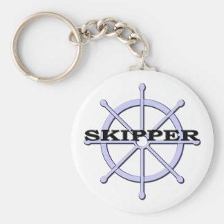 Skepparefrakten rullar Keychain Rund Nyckelring