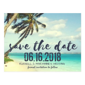 Skeppsbruten strandbröllop spara datumvykort vykort