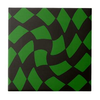 Skev schackbräde för svart och för grönt liten kakelplatta