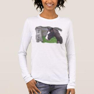 skewbald lång muff t-skjorta tröja