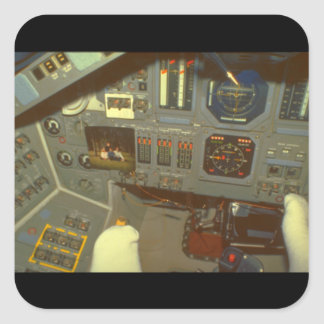 Skicka Cockpit_Space Fyrkantigt Klistermärke