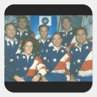 Skicka crew_Space Fyrkantigt Klistermärke