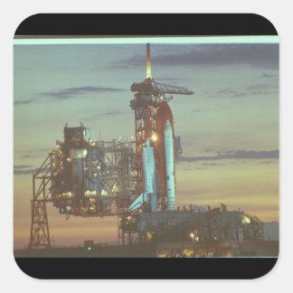 Skicka för launch_Space Fyrkantigt Klistermärke