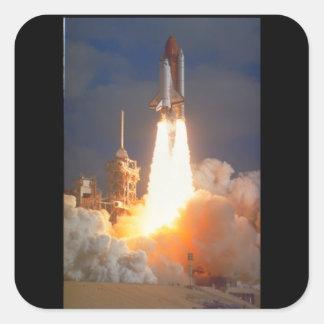 Skicka launch_Space Fyrkantigt Klistermärke