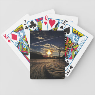 skida på solnedgången spelkort