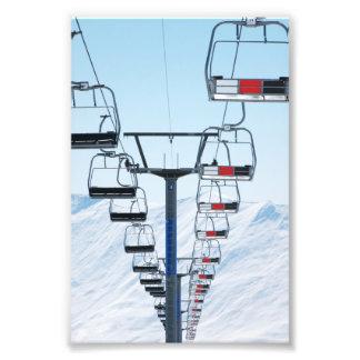 Skida parkerar Chairlifts Fototryck