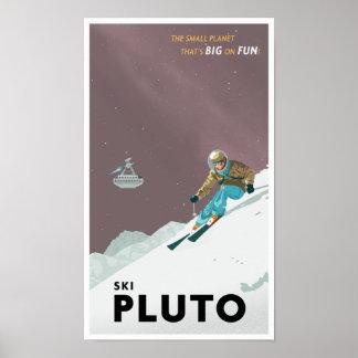 Skida Pluto Affisch