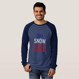 Skida snö, liv tee shirt