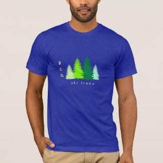 Skida träd t-shirts