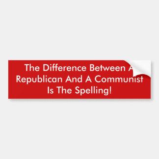 Skillnad mellan en republikan och en kommunist bildekal