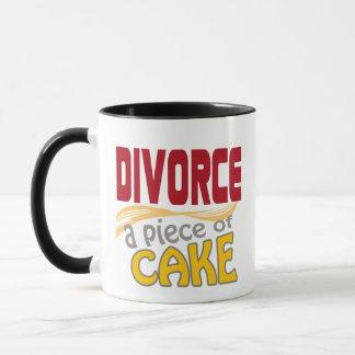 Skilsmässa - biet av tårtan mugg
