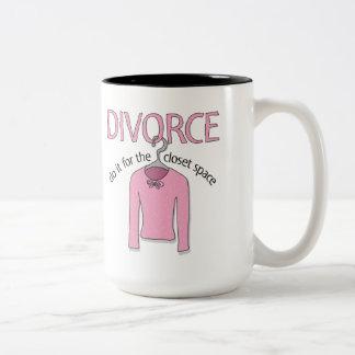 Skilsmässa för det hemliga utrymmet Två-Tonad mugg