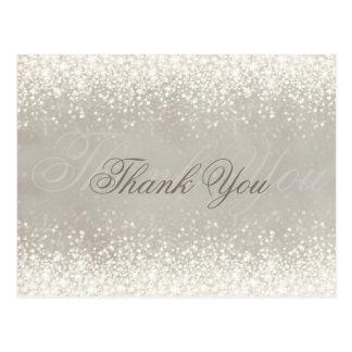 Skimrande ljus vykort för glittergrå färgtack