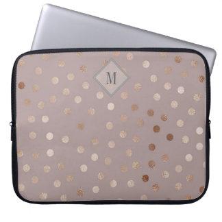 Skimrande pricker mönster med din Monogram Laptop Sleeve
