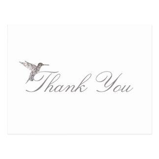 Skimrande vykort för Hummingbirdtackvit
