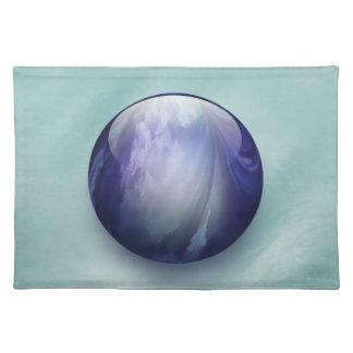 Skina Glass marmor för blått Bordstablett