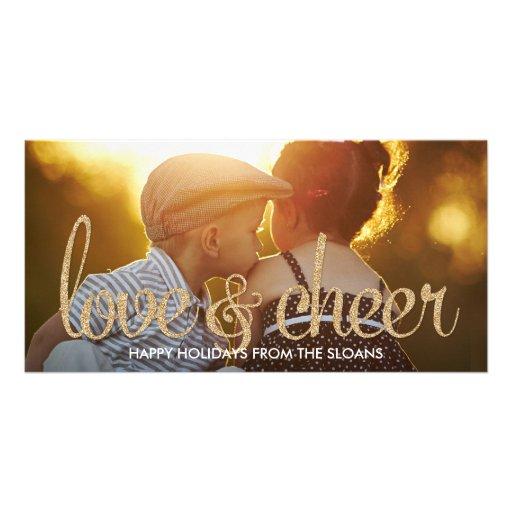 Skina kort för kärlek- & jubelhelgdagfoto fotokort mall