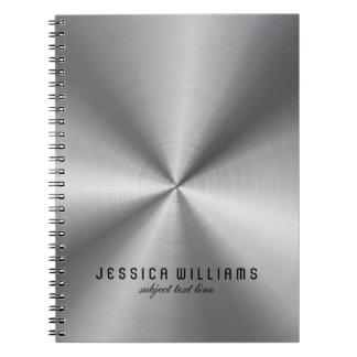 Skina Look för silvergråttrostfritt stål Anteckningsbok